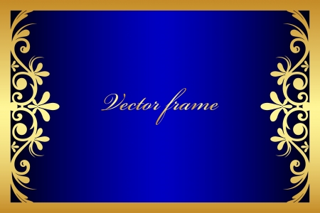 blue floral frame Stock Vector - 19749654
