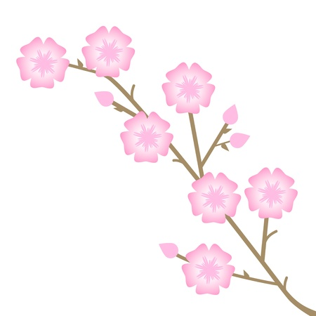 april clipart: illustration of pink flowers