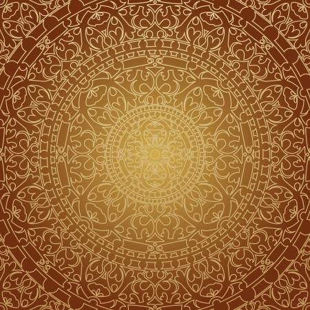 ペルシア: 東洋の茶色の装飾のイラスト
