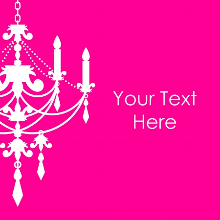 pink background with chandelier Stock Vector - 19740407