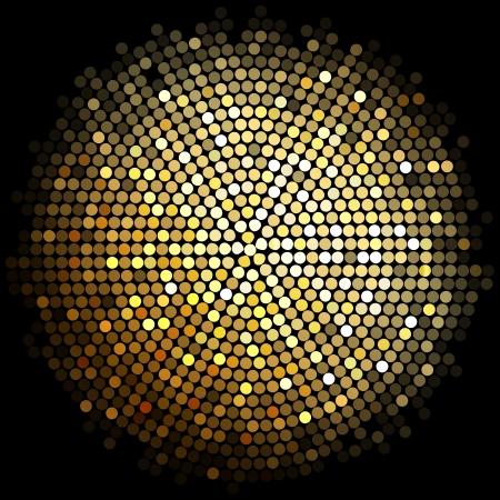 explosie: gouden disco achtergrond verlichting Stock Illustratie