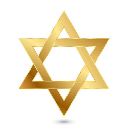 illustration of golden Magen David  star of David