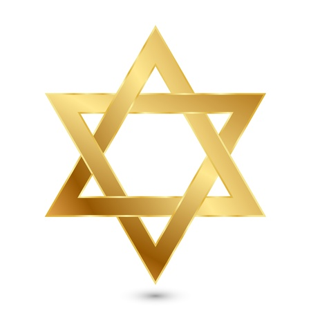 jewish star: illustration of golden Magen David  star of David