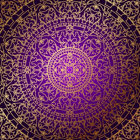 persian: oriental purple background with gold ornament