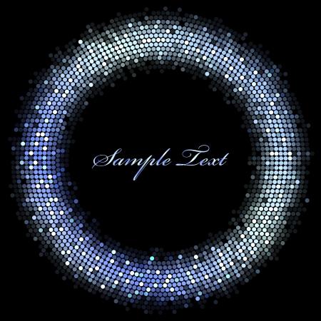 cadre - résumé des lumières bleues Vecteurs