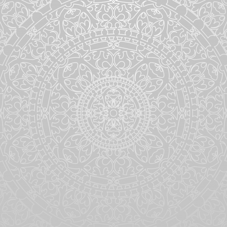 traditional silver wallpaper: gray background with oriental decorations