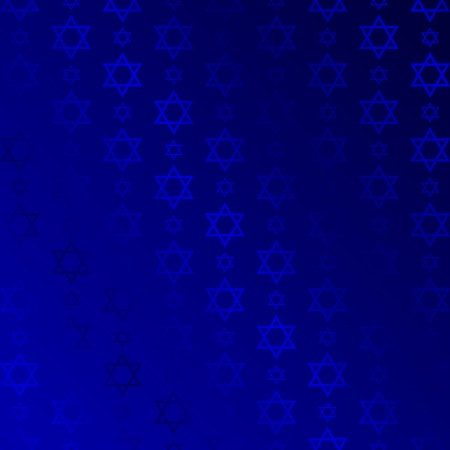 judaism: background with David stars