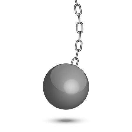 demolition: illustration of wrecking ball