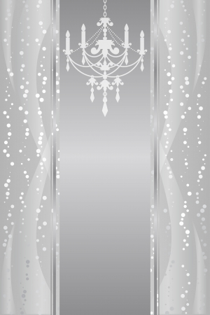 silver frame with chandelier Stock Vector - 20008504