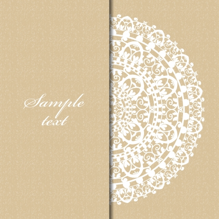 floral lace: beige background with napkin