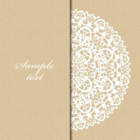 doilies: fondo beige con servilleta