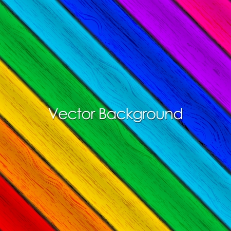 background - colorful wood texture Stock Vector - 20008496