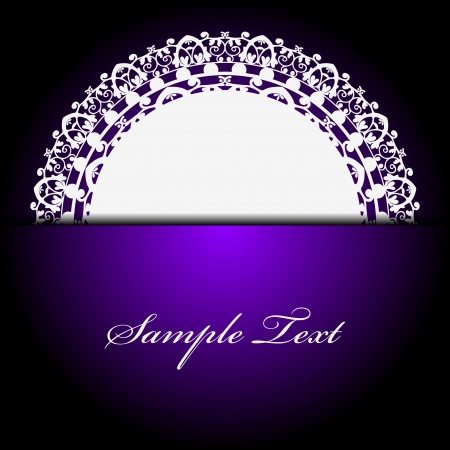 white napkin on purple background Vector