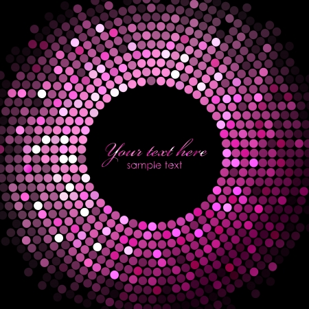 pink disco lights on black background Vector