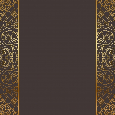 brown and gold frame Vector