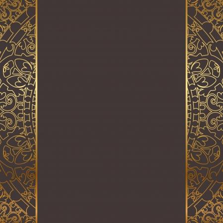 tapet: brown and gold frame Illustration
