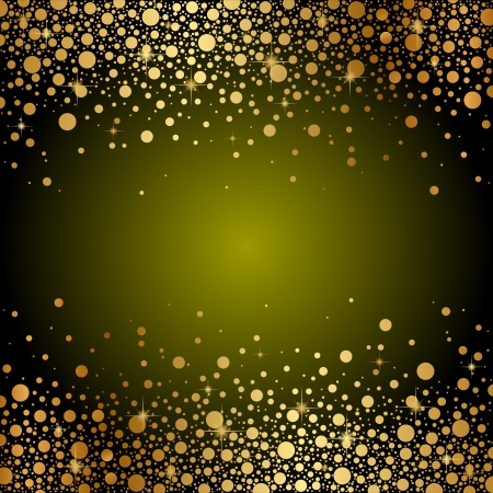 gold star: green and gold luxury background