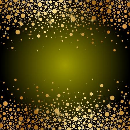 gouden ster: groen en goud luxe achtergrond