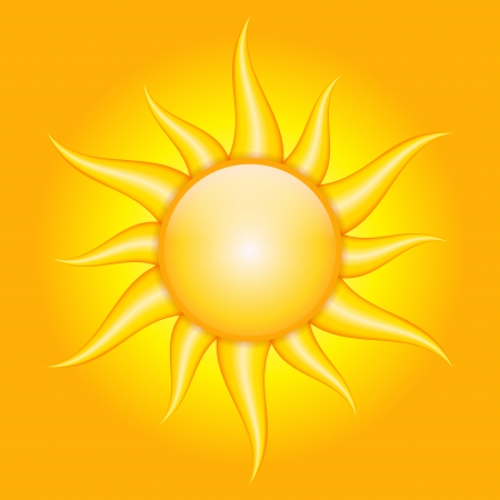 orange background with sun Vector