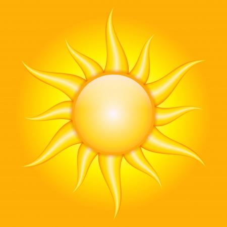 orange background with sun Stock Vector - 20008500