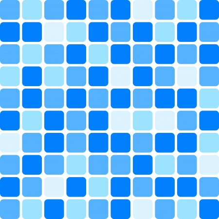 background - blue tile wall Vector