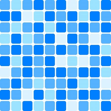 blue white kitchen: background - blue tile wall