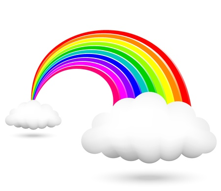 forecaster: Vector illustration of shiny rainbow Illustration