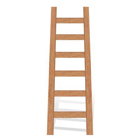backstairs: Vector illustration of wooden ladder Illustration