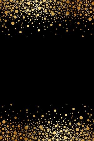 黒と金の豪華なフレームをベクトルします。