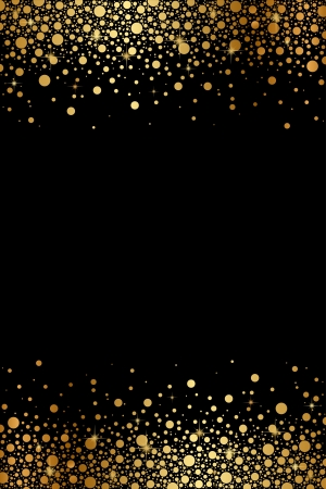 Vector black and gold luxury frame Vector