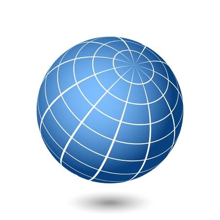coordinates: Vector globe illustration