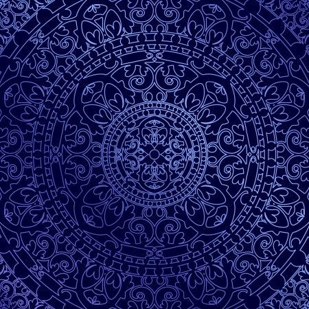 vitrage: Vector oriental blue background with ornament Illustration