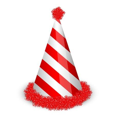 new year's cap: Vector illustration of birthday cap