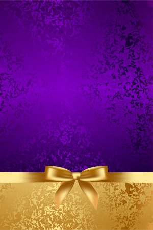 Vector luxury background with gold bow Çizim