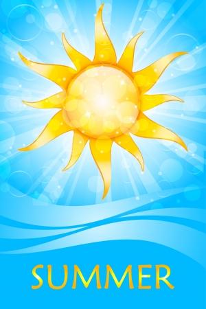 summer sky: Vector summer background