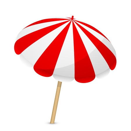 red umbrella: Vector illustration of parasol