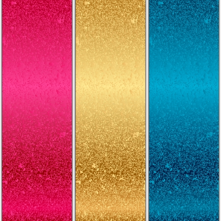 brushed steel background: Vector colorful metal textures