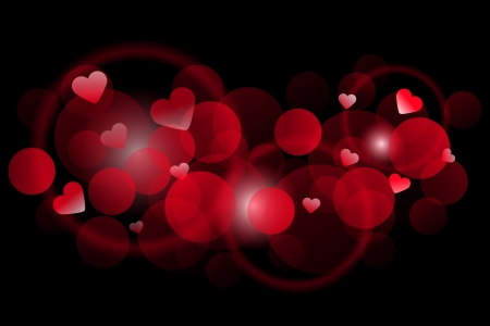 Vector red background with hearts Vector