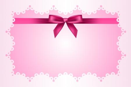 Baby roze frame met kant en lint