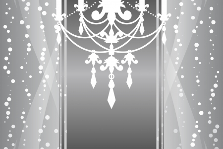 silver frame with chandelier Vector