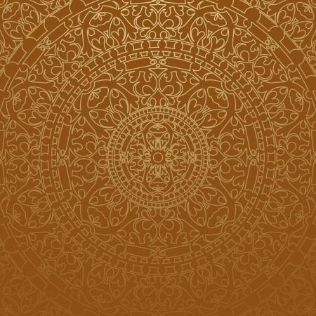 arabisch patroon: bruine Oosterse achtergrond Stock Illustratie