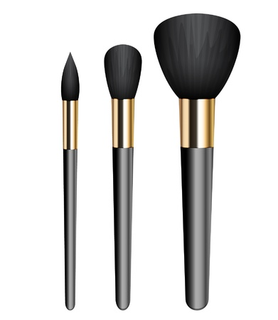 illustration of make-up brushes 向量圖像