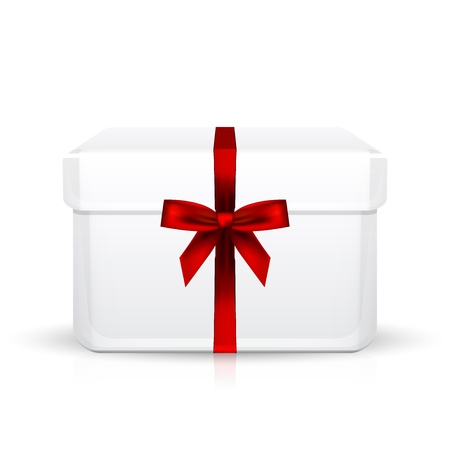 gift box with red ribbon Stock Vector - 20937588