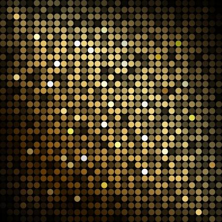 schwarz: Gold-Disco-Lichter - abstrakten Hintergrund Illustration