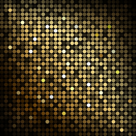 Goud discolichten - abstracte achtergrond Stock Illustratie