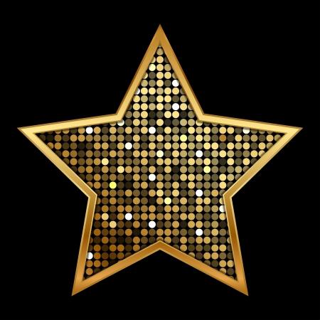 illustratie van goud glanzende ster Stock Illustratie