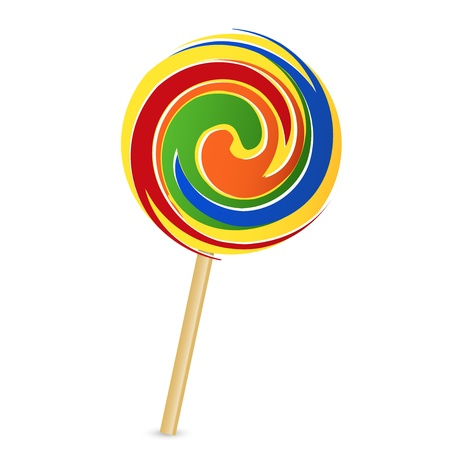 lick: illustration of colorful lollipop Illustration