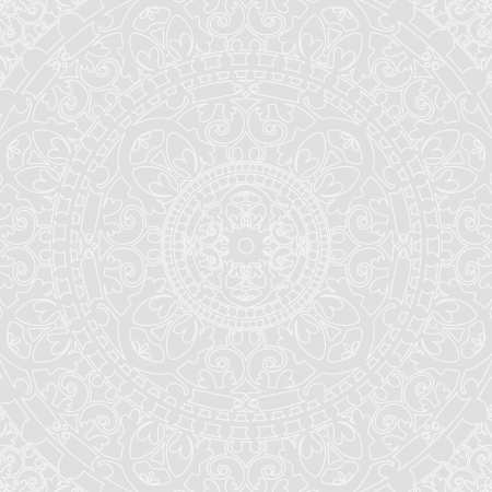 ornamented: silver oriental background