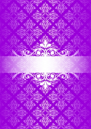 fancy border: purple vintage background Illustration