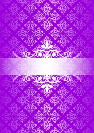 FANCY BORDER: purple vintage background Illustration